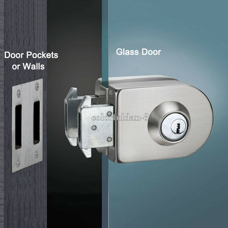 Le Meilleur 1Pcs Glass Door Lock Single Door Double Unlock Stainless Ce Mois Ci