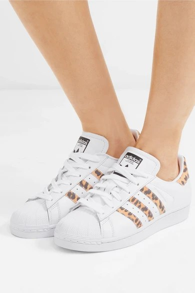 Le Meilleur Adidas Originals Superstar Leopard Print Trimmed Leather Ce Mois Ci