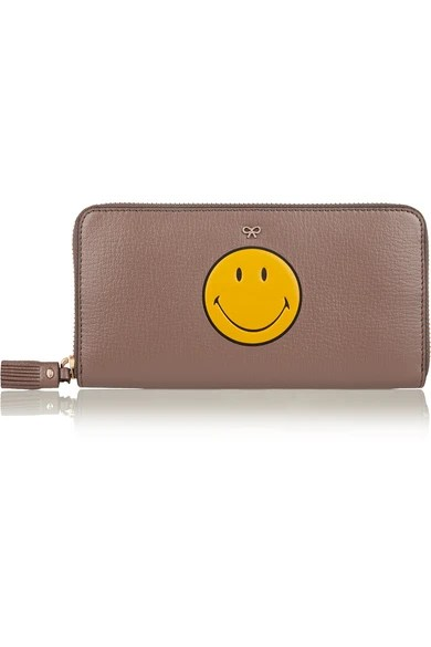 Le Meilleur Anya Hindmarch Smiley Textured Leather Continental Ce Mois Ci