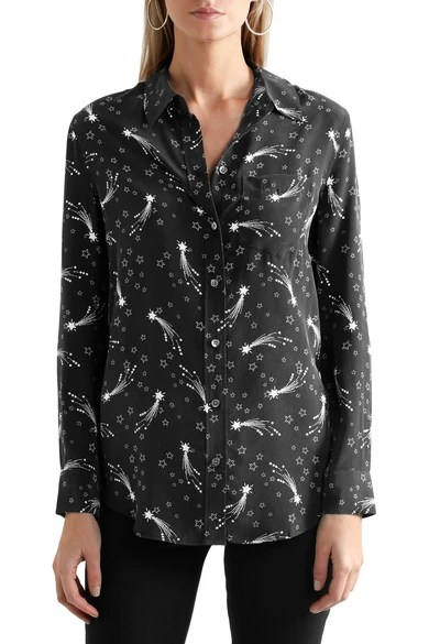 Le Meilleur Kate Moss For Equipment Reese Printed Washed Silk Shirt Ce Mois Ci