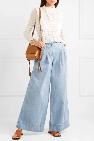 Le Meilleur Ulla Johnson Emmit High Rise Wide Leg Jeans Net A Ce Mois Ci