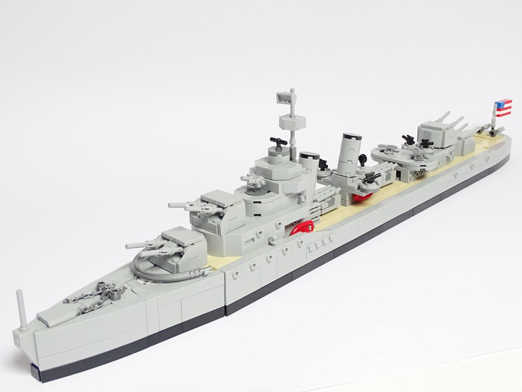 Le Meilleur Porter Class Us Navy Destroyer 1 200 Scale Lego Model Flickr Ce Mois Ci