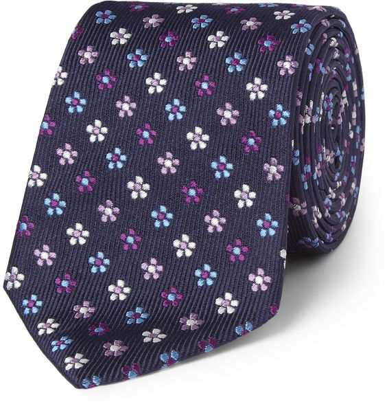 Le Meilleur Turnbull Asser Flower Embroidered Silk Tie Mr Porter Ce Mois Ci