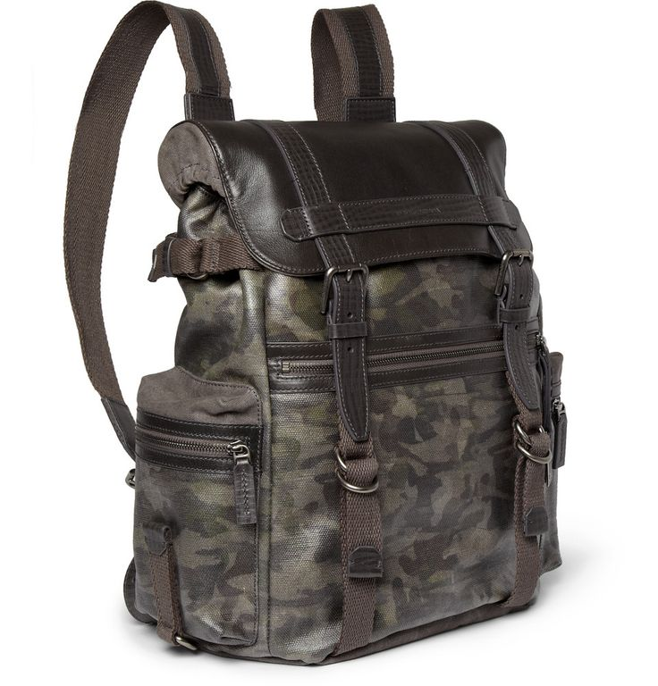 Le Meilleur Dolce Gabbana Leather And Canvas Backpack Mr Porter Ce Mois Ci