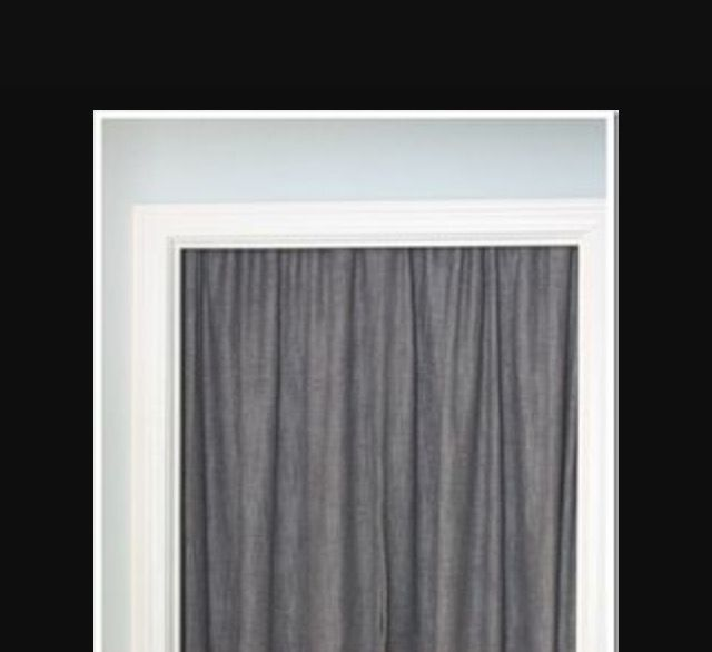 Le Meilleur Cover Unused Door With Tension Rod And Curtain To Soften A Ce Mois Ci