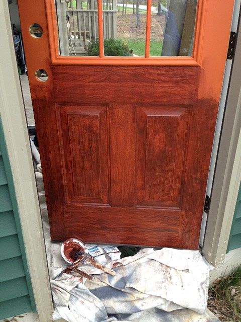 Le Meilleur Thrifty Transformation How To Paint A Door To Look Like Ce Mois Ci