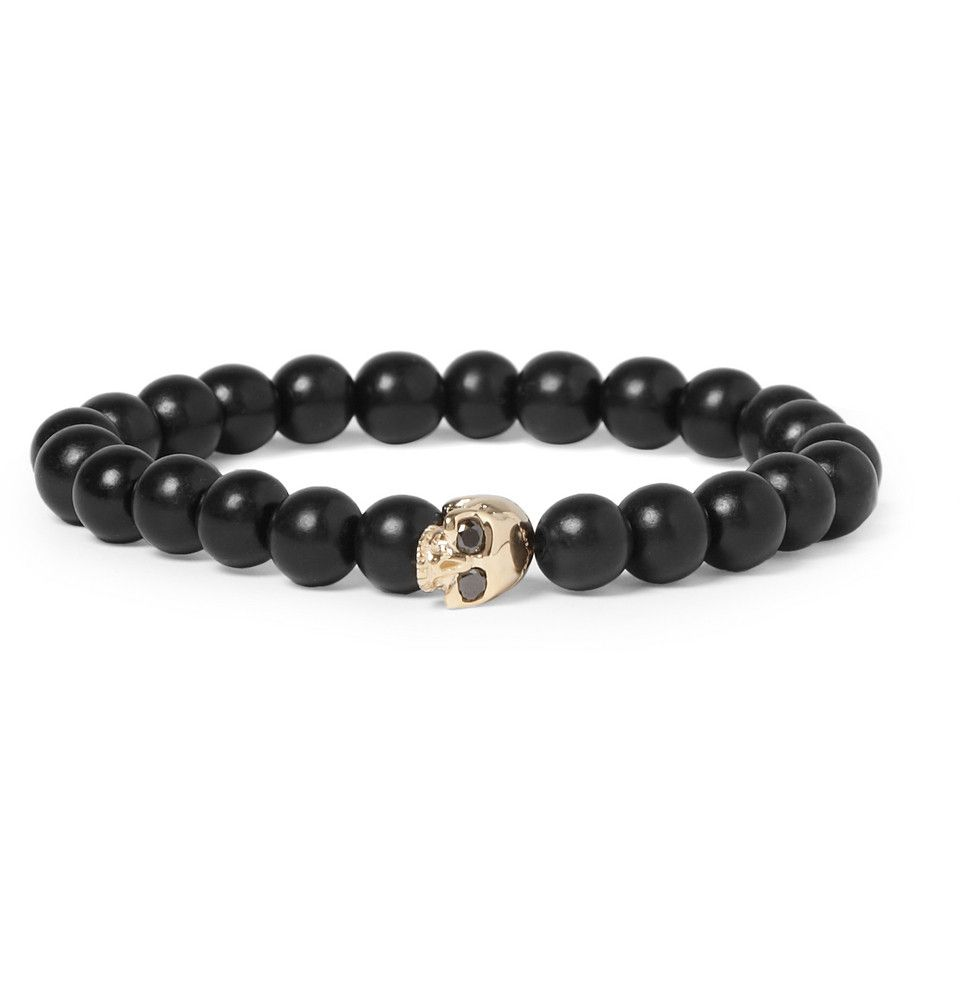 Le Meilleur Luis Morais Black Diamond Embellished Gold And Ebony Bead Ce Mois Ci