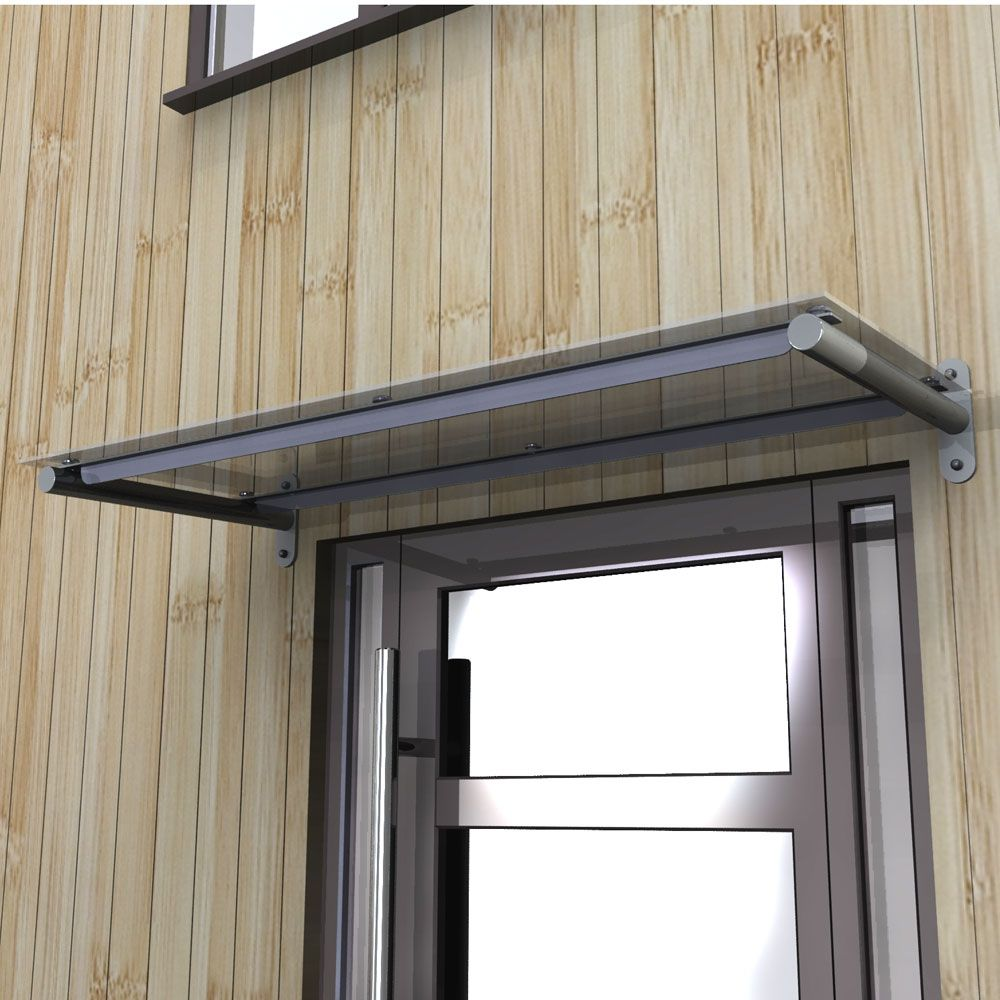 Le Meilleur Toughened Glass Door Canopy With Powdercoated Steel Ce Mois Ci