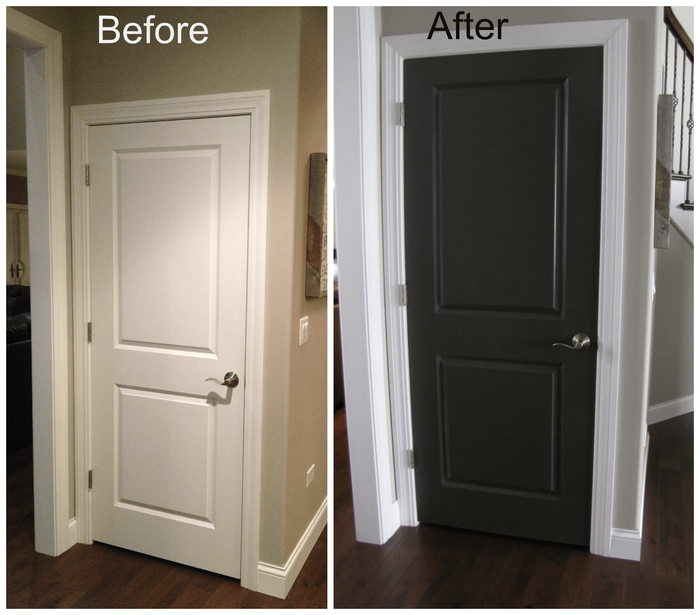 Le Meilleur Black Interior Doors Before And After Door Before And Ce Mois Ci
