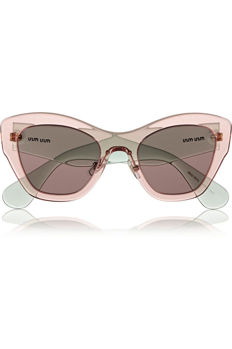 Le Meilleur Miu Miu Two Tone Cat Eye Acetate Sunglasses Net A Ce Mois Ci