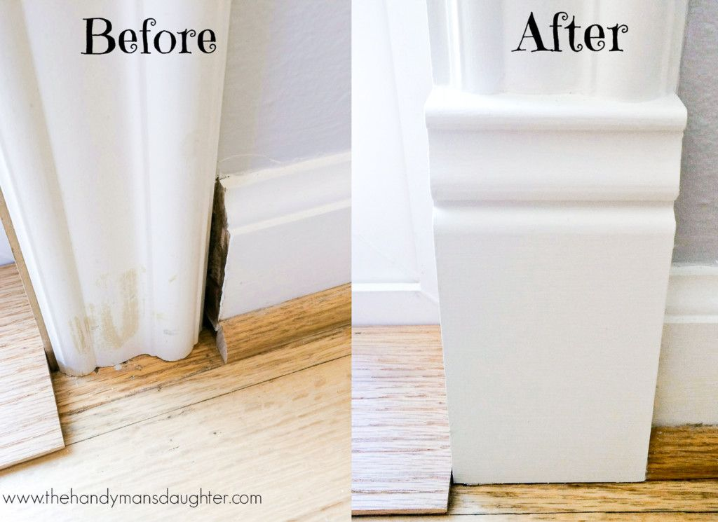 Le Meilleur Add A Plinth Block To Door Trim For A Finished Look Door Ce Mois Ci