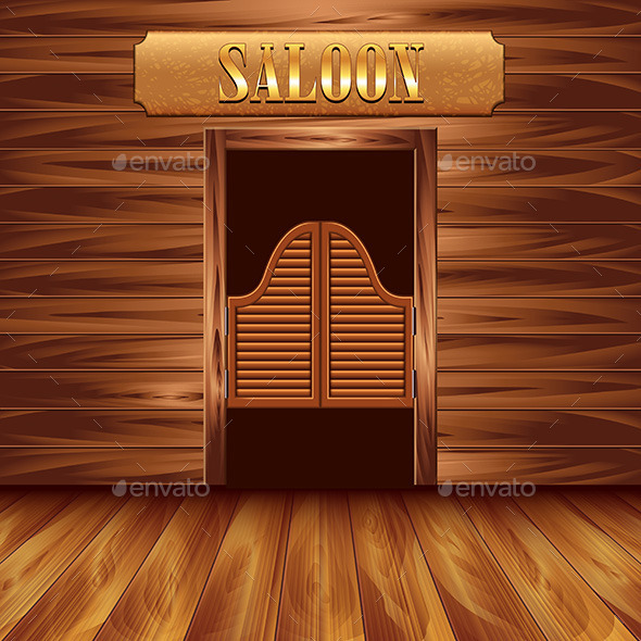 Le Meilleur Swinging Doors Of Saloon By Andegro4Ka Graphicriver Ce Mois Ci