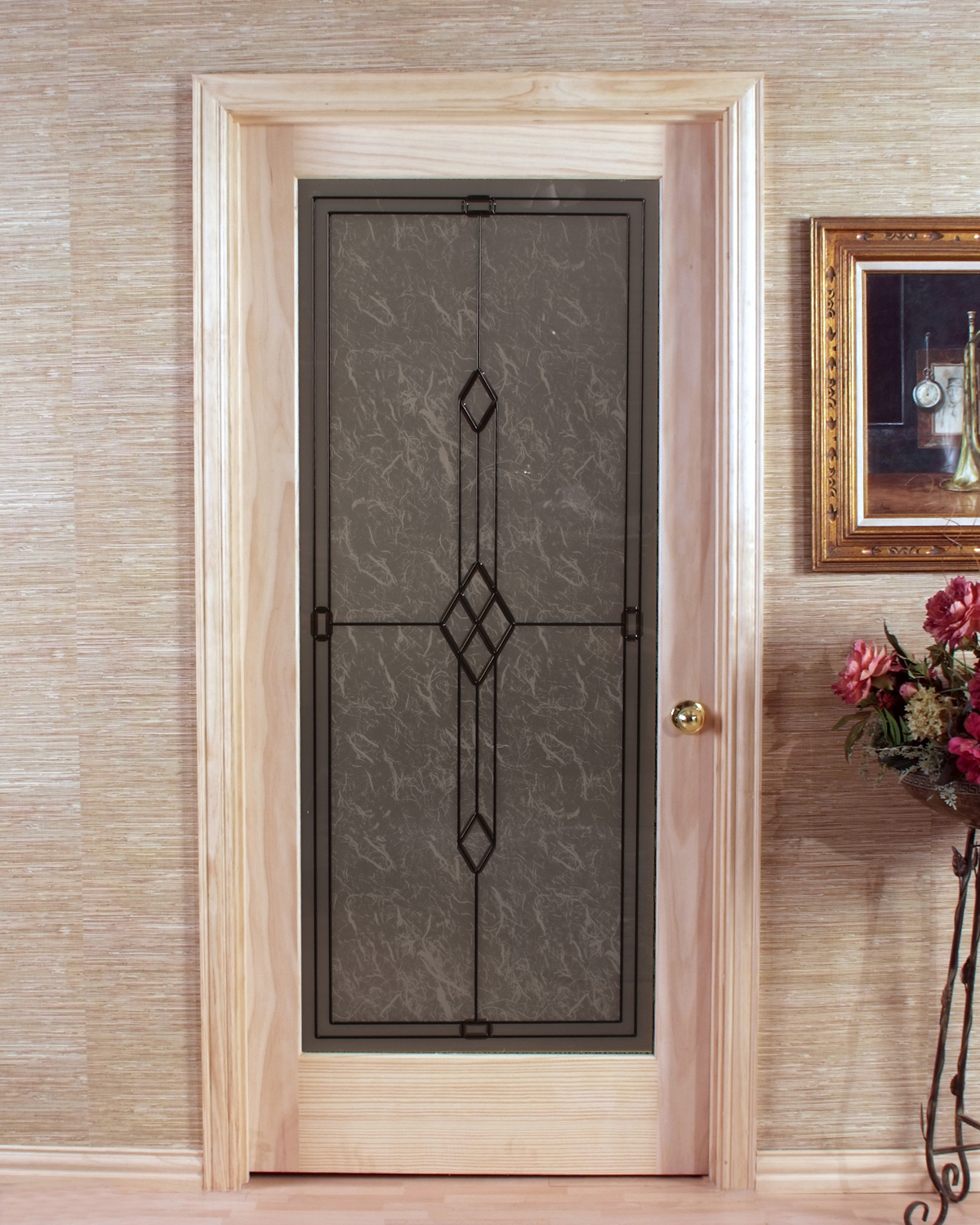 Le Meilleur Geometric Frosted Passage Door With One Piece Tempered Glass Ce Mois Ci