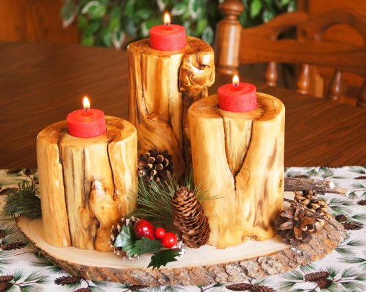 Taste of Rockies centerpiece in Christmas style!