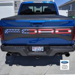 2017 2020 Ford Raptor American Flag Tailgate Letters Rocky Mountain Graphics