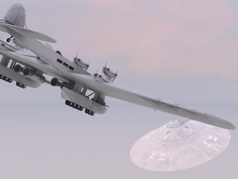 Soviet K-7 Bomber with Rockets vs Nazi Saucer