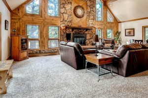 gorgeous fireplace elizabeth colorado home for sale