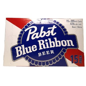 Pabst Blue Ribbon 15 can