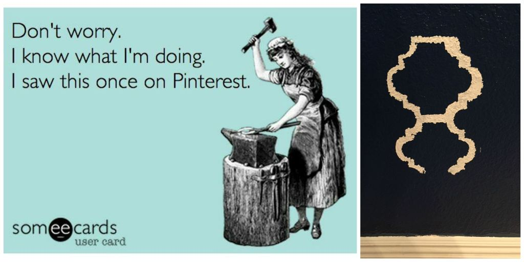 We've all been there. Sometimes the things you see on pinterest are not as easy as they look.