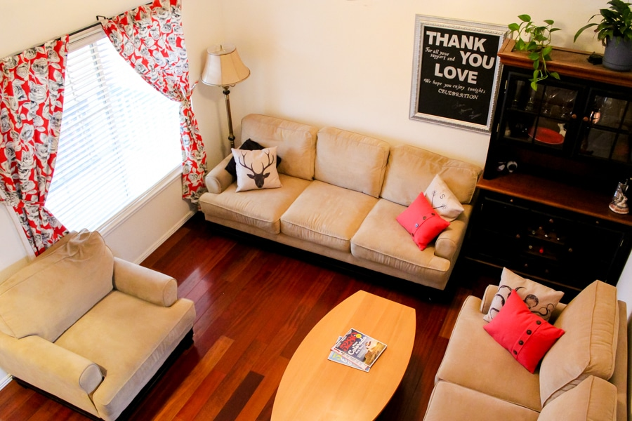 Living room makeover: before