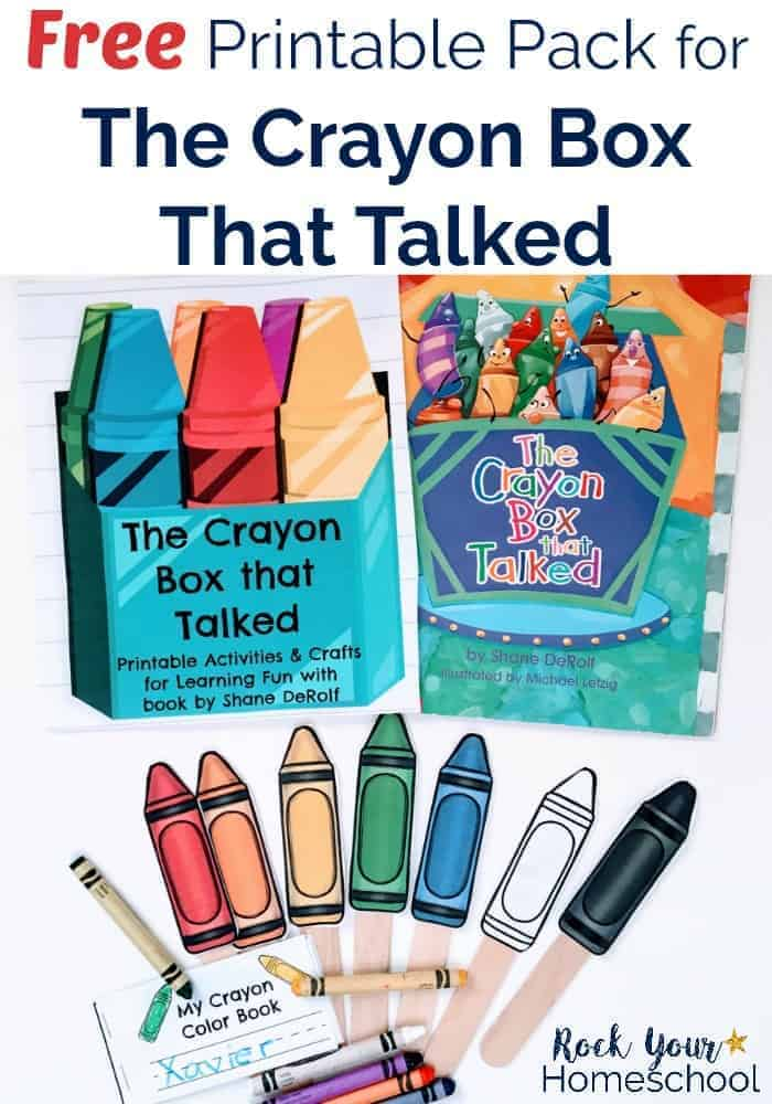 Free Printable Pack for The Crayon Box That Talked - Rock Your ...