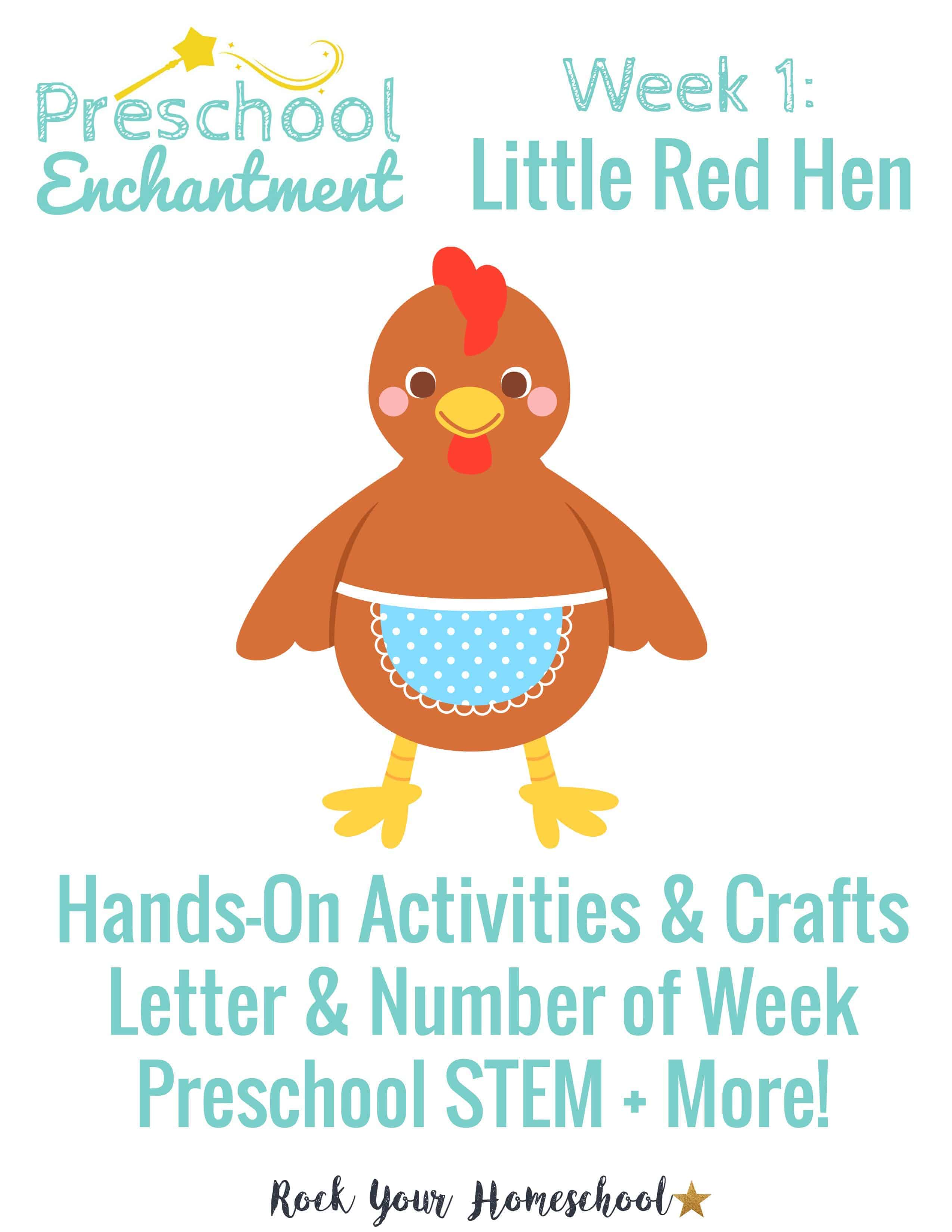 Preschool Enchantment Week 1 Little Red Hen
