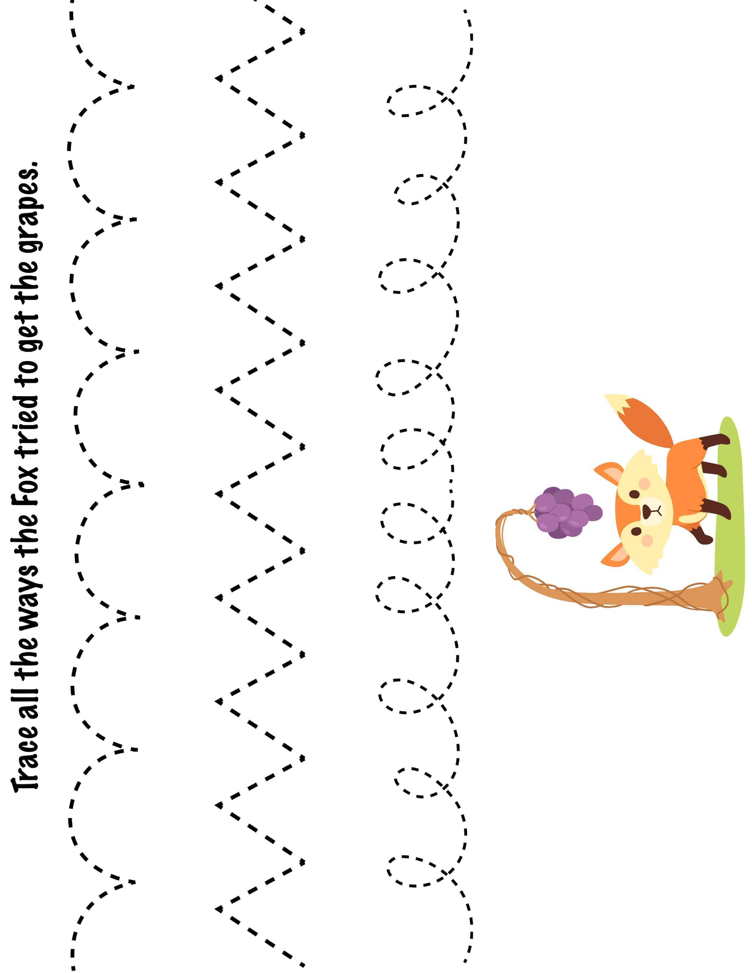 G S Trace Line Worksheet For Kids 2 Crafts And