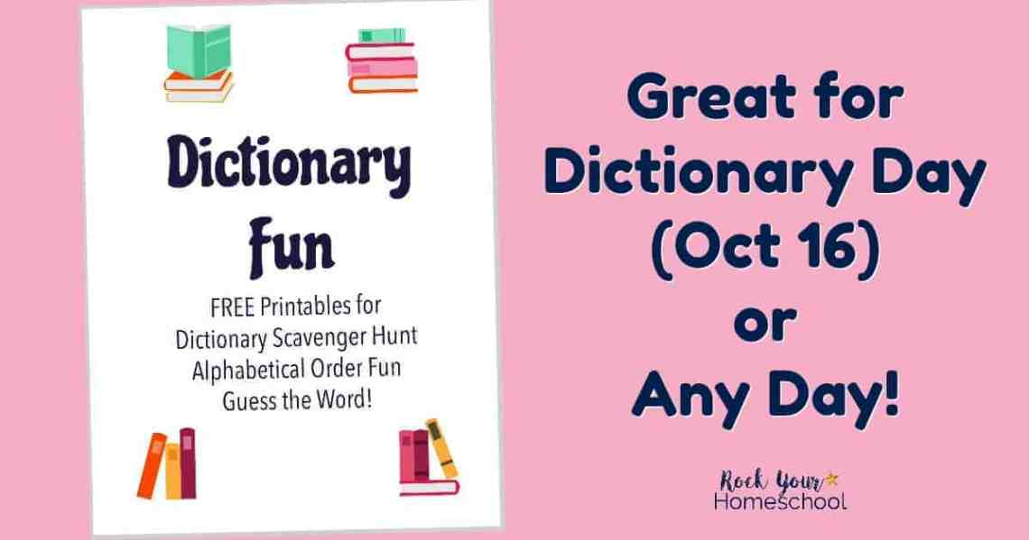 free printables for dictionary fun that kids will love rock your