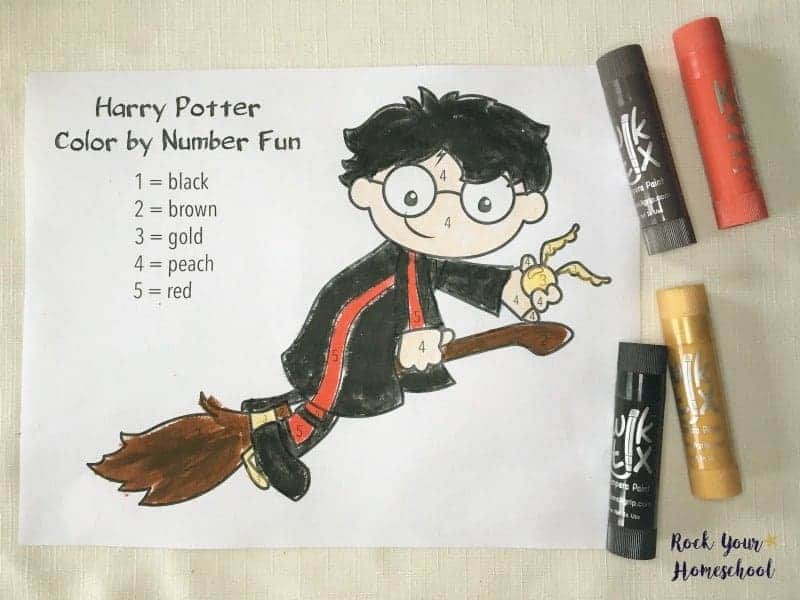 Coloring Pages Using Numbers : Free printables for harry potter inspired coloring fun rock your