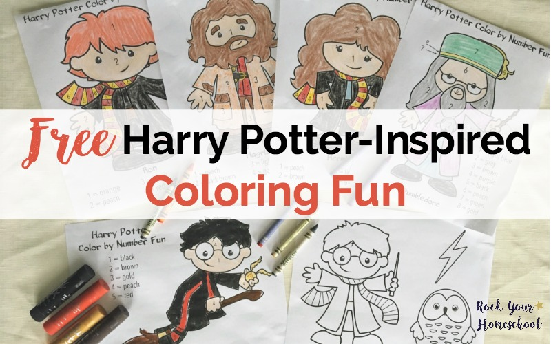 Get Your Free Harry Potter Inspired Coloring Fun For Kids Printable Pack Includes