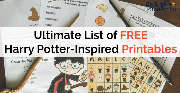 ultimate list of free harry potterinspired printables