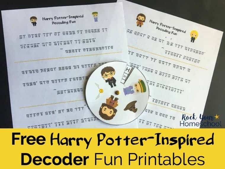 Add A Touch Of Magic To Your Learning Fun With These Free Harry Potter Inspired