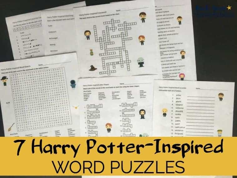 Boost Learning Fun With These 7 Harry Potter Inspired Word Puzzles Brilliant