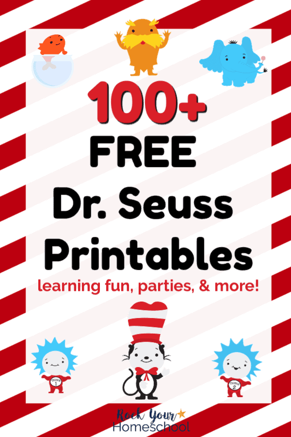 Free Dr Seuss Printables With 100 Ways To Boost Learning Fun