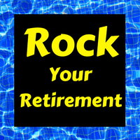 Logo of the Rock Your Retirement show, which helps people have a happy retirement.