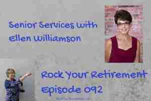 Image of Ellen Williamson, who talks about Senior Services