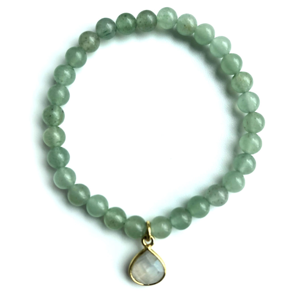 Green Aventurine with Moonstone