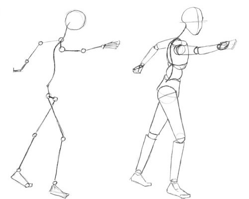 how to draw human body