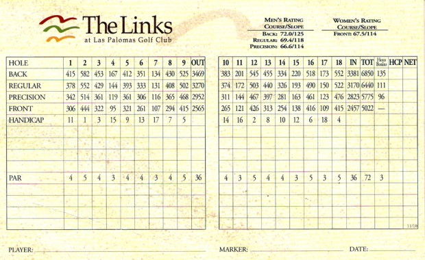 score-card-links-620x380 The Links at Las Palomas Beach & Golf Resort