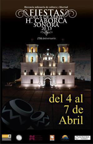 poster de las fiestas del seis de abril en Caborca