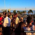 Shurman performance at Beach Bum bar in Rocky Point, Puerto Peñasco, Sonora, México, malecon old port sunset