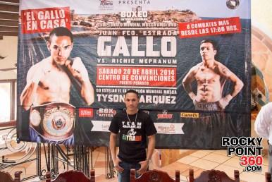 Gallo-Estrada-press-conference-1 Gallito to defend titles in Puerto Peñasco