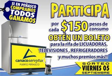 """canaco-sept5 """"Si en Peñasco compramos todos ganamos"""""""