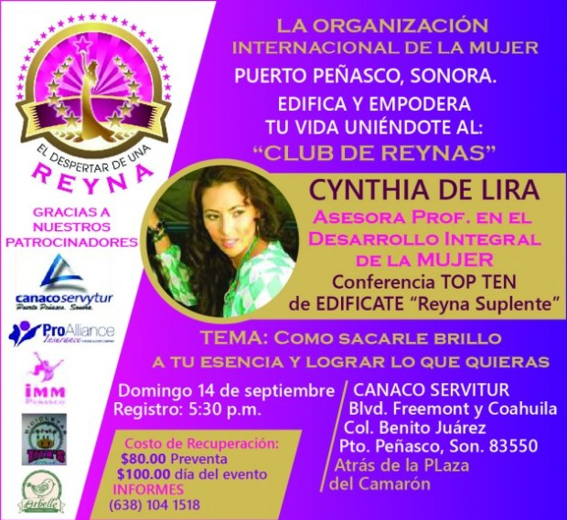 despertar-reyna-630x579 Club de Reynas - Conferencista Cynthia de Lira -14 sept