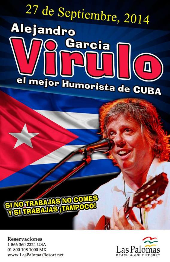 virulo-27sept Cuban humorist Virulo en Las Palomas  27 sept