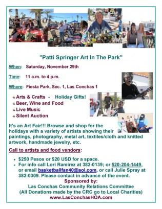 Patti-Springer-Art-In-The-ParkNew-630x815 ¡Buen Fin!  Rocky Point Weekend Rundown