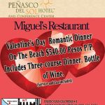 miguels-peñasco-del-sol Valentine's Day options in Rocky Point