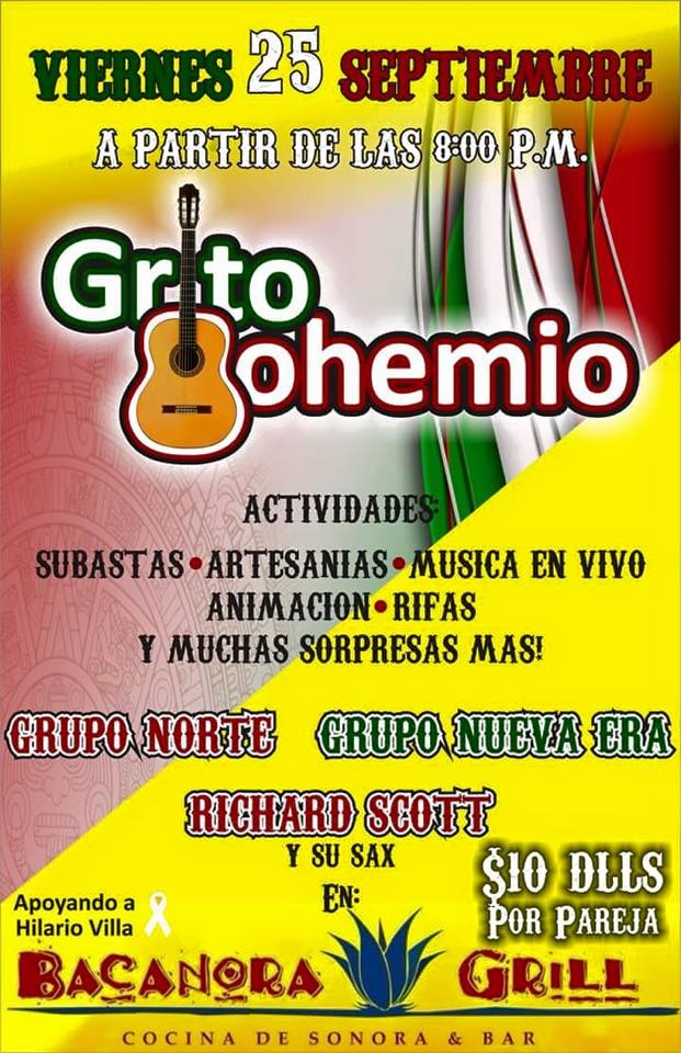 25sept-noche-bohemia Grito Bohemio Sept 25 - Music - Dance - Folk Art