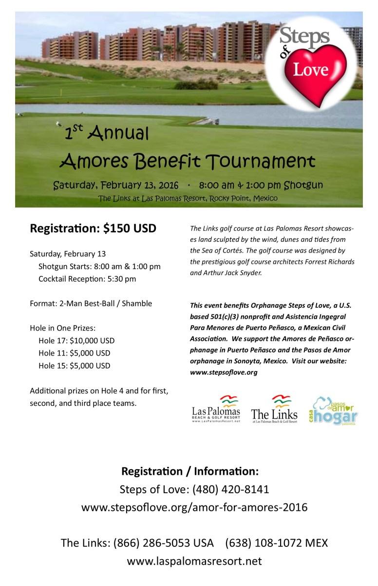 Amores Benefit Tournament Flier