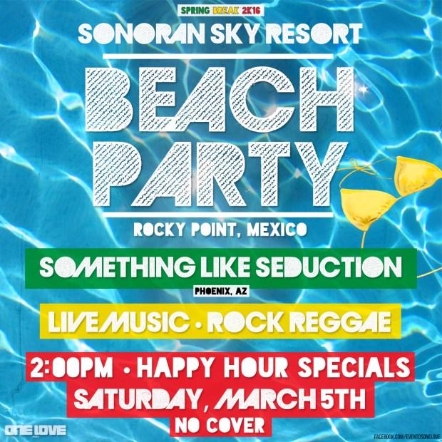 Flyer-Pool-Party-2pm #RPSB2016 WK 1  Rocky Point Weekend Rundown!